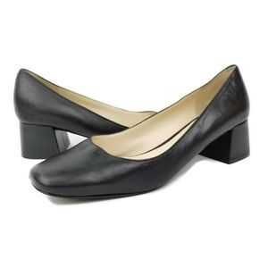 Karl Lagerfeld Womens Size 8 Black Leather Square